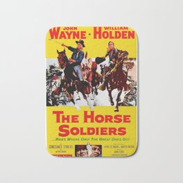 Vintage Movie Posters, The Horse Soldiers Bath Mat