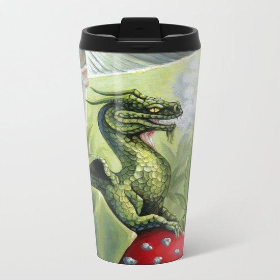 Green Dragon Metal Travel Mug