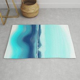 Turquoise landscape Rug
