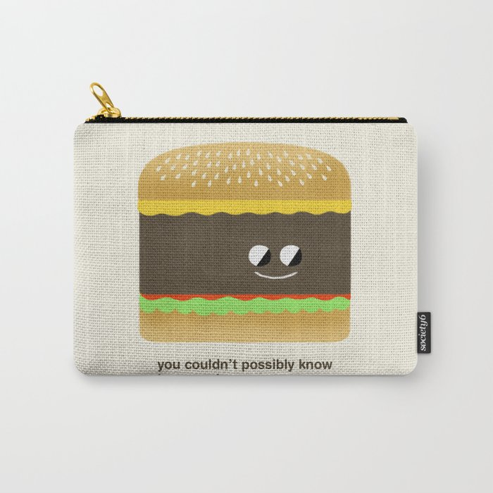 Cheesy Burger Carry-All Pouch