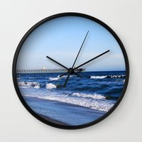 boardwalk empire Wall Clocks featuring Boardwalk by Raffaella315