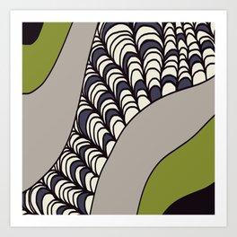 Green Rolled Art Print