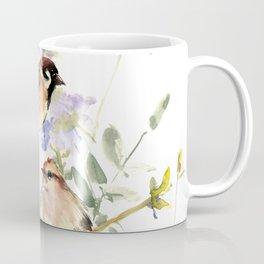 Sparrows and Spring Blossom Coffee Mug