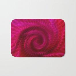 Red Power Wave Bath Mat
