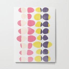 Painted Pebbles 3 Metal Print