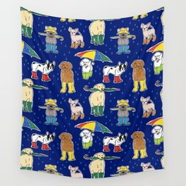 It's Raining Dogs + Dogs Wall Tapestry