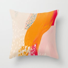 The Abstract Shape Of Spring Throw Pillow