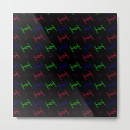Tie Fighter Arcade: 3 Ties Metal Print