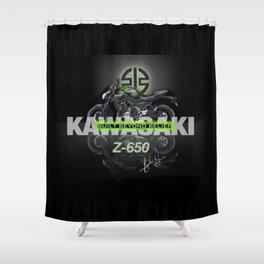 Kawasaki Z-650 Shower Curtain