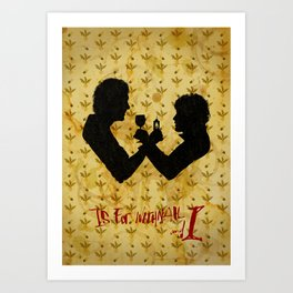 W is for Withnail & I Art Print