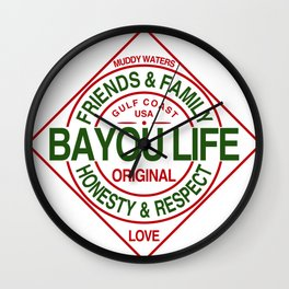 The Bayou Life Homage Wall Clock