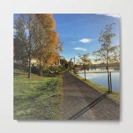 Early autumn morningwalk Metal Print