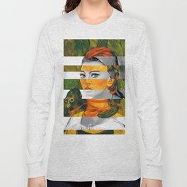 Frida Kahlo's Self Portrait with Monkey & Sophia Loren Long Sleeve T-shirt