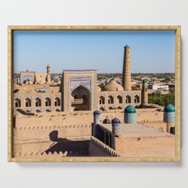 Citadel Kunya-ark - Khiva, Uzbekistan Serving Tray