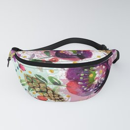 Abstract plants and flowers Fanny Pack