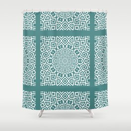 Helena Teal Shower Curtain