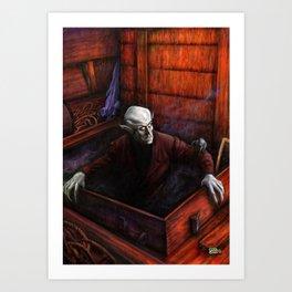 Dracula Nosferatu Vampire King Art Print