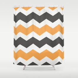 Halloween Chevron Shower Curtain