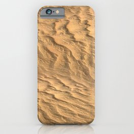 Golden sand of the desert. iPhone Case