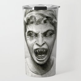 Weeping Angel Watercolor Travel Mug