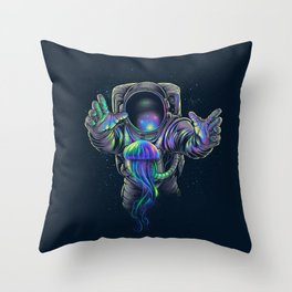 Jellyspace 2 Throw Pillow