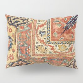 Indian Trellis II // 17th Century Ornate Medallion Red Blue Green Flowers Leaf Colorful Rug Pattern Pillow Sham