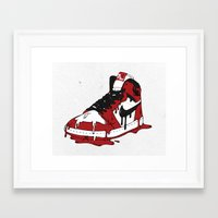 air jordan Framed Art Prints featuring Air Jordan I by shoooes