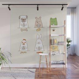 animals on social media Wall Mural