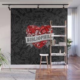 Bibliophile Heart Wall Mural