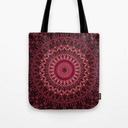 Dark red mandala Tote Bag