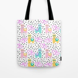 Valentine's Day Llamas Tote Bag