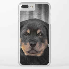 Drawing Puppy rottweiler Clear iPhone Case