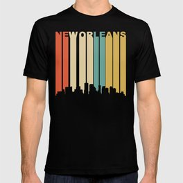 Retro 1970's New Orleans Louisiana Downtown Skyline T-shirt