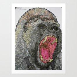 GRRR-ILLA Art Print