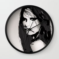 vogue Wall Clocks featuring Face- Vogue by Allison Reich