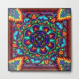 Fire Flower Metal Print