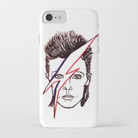 aladdin iPhone & iPod Cases featuring Bowie Aladdin by Diego La Diabla
