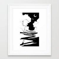 arrakis Framed Art Prints featuring Nomad by Alex Moon