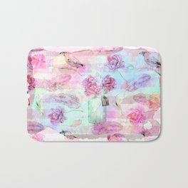 Summer pattern - Floral Flowers in pink on #Society6 Bath Mat