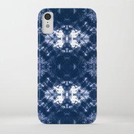 Shibori Tie Dye 1 Indigo Blue iPhone Case