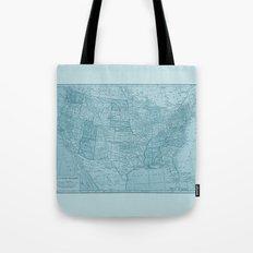 Vintage America in Blue Tote Bag