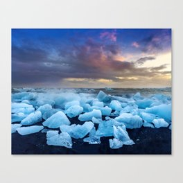 The Blue Crush Iceland Canvas Print
