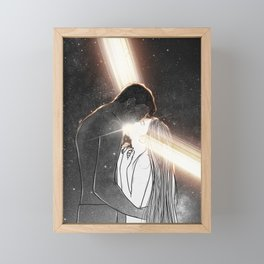 Light is in our hearts. Framed Mini Art Print