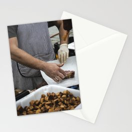 Meat in a meat market Stationery Cards