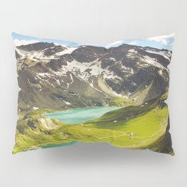 Italian Landscape Mountains and Lake Pillow Sham
