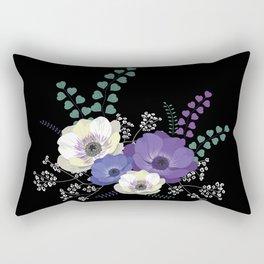 Anemones bouquet Rectangular Pillow