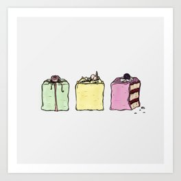 P is for Petit Four Art Print