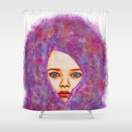 Cotton Candy Innocence Shower Curtain