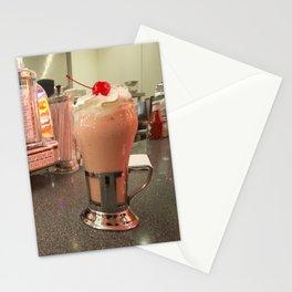 Strawberry Malt Shake  Stationery Cards