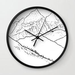 Mountain Minimal Bliss Wall Clock